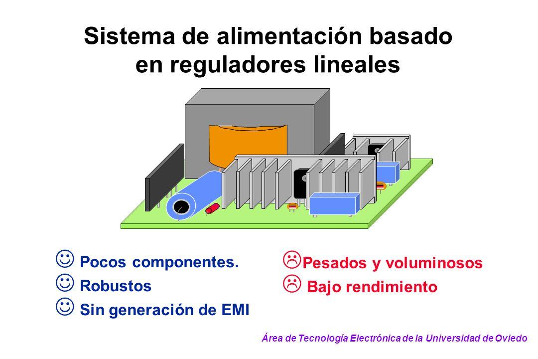 Sistema de alimentación basado en reguladores lineales