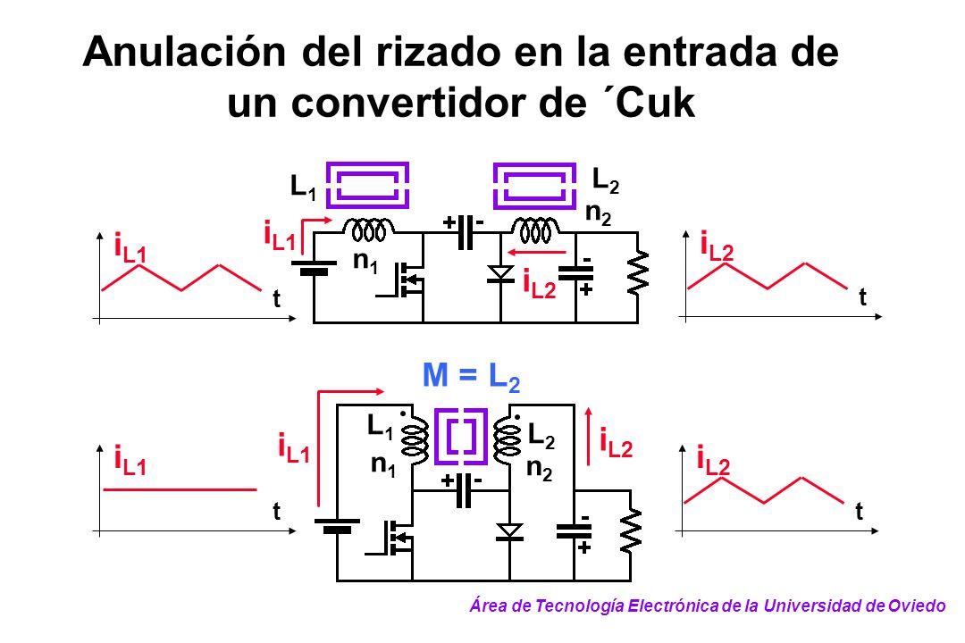 Anulación del rizado en la entrada de un convertidor de ´Cuk