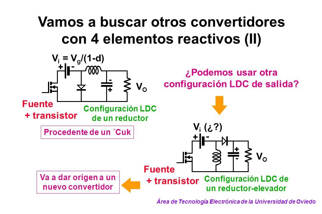 Vamos a buscar otros convertidores con 4 elementos reactivos (II)