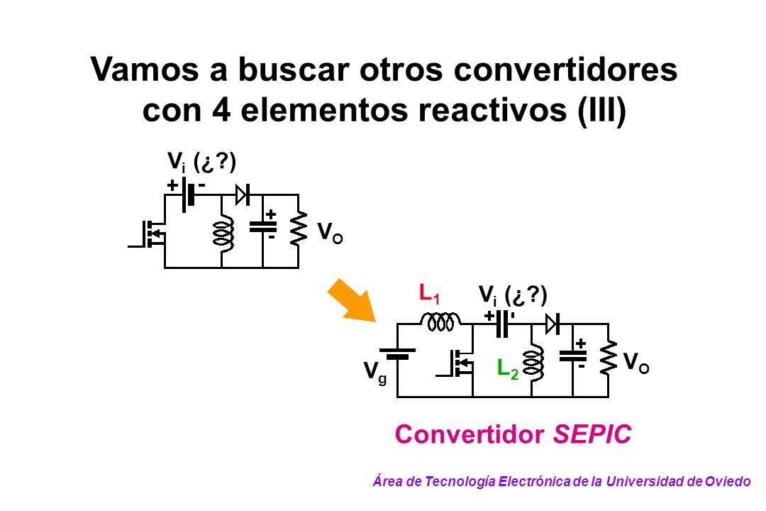 Vamos a buscar otros convertidores con 4 elementos reactivos (III)