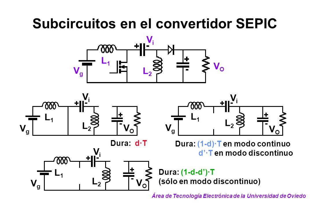 Subcircuitos en el convertidor SEPIC