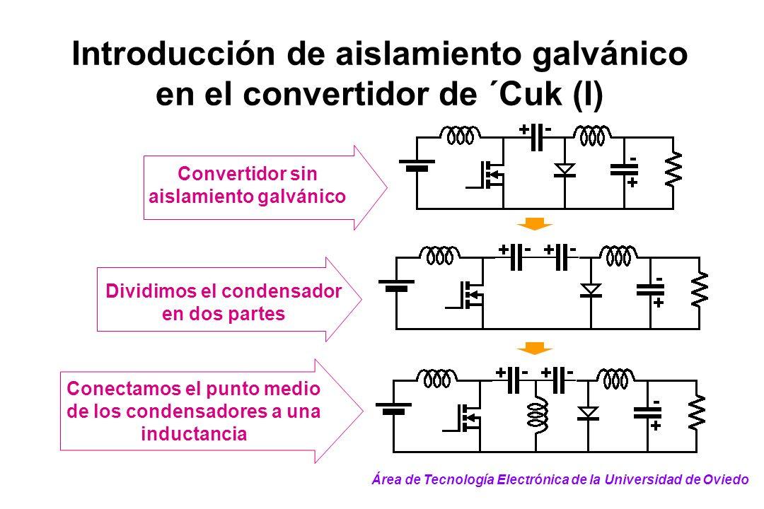 Introducción de aislamiento galvánico en el convertidor de ´Cuk (I)