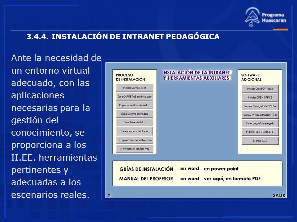 3.4.4. INSTALACIÓN DE INTRANET PEDAGÓGICA