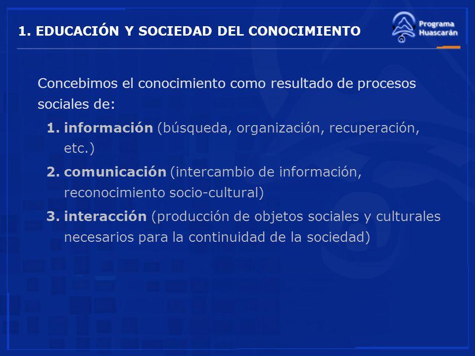 1. EDUCACIÓN Y SOCIEDAD DEL CONOCIMIENTO