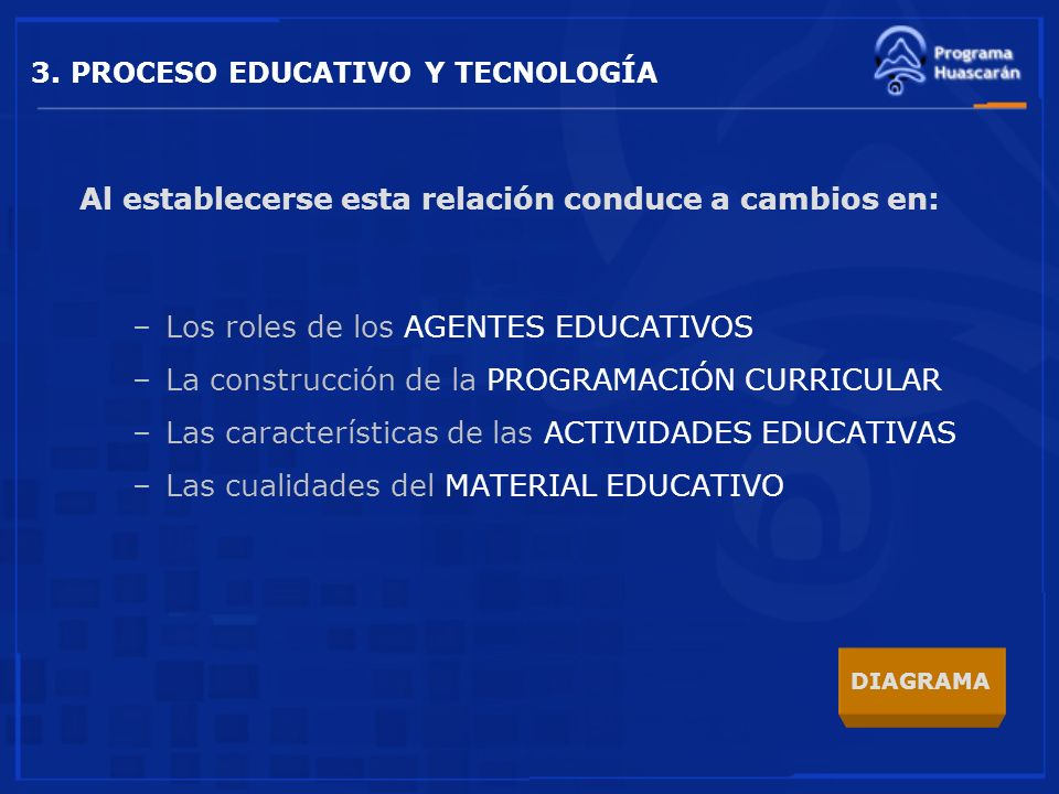 3. PROCESO EDUCATIVO Y TECNOLOGÍA