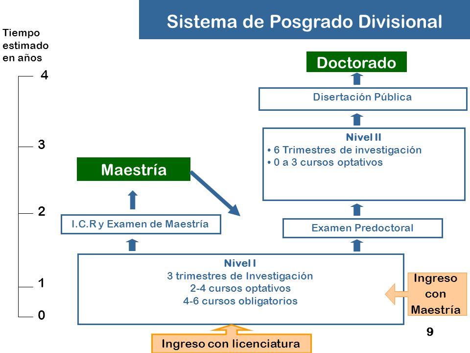 Sistema de Posgrado Divisional
