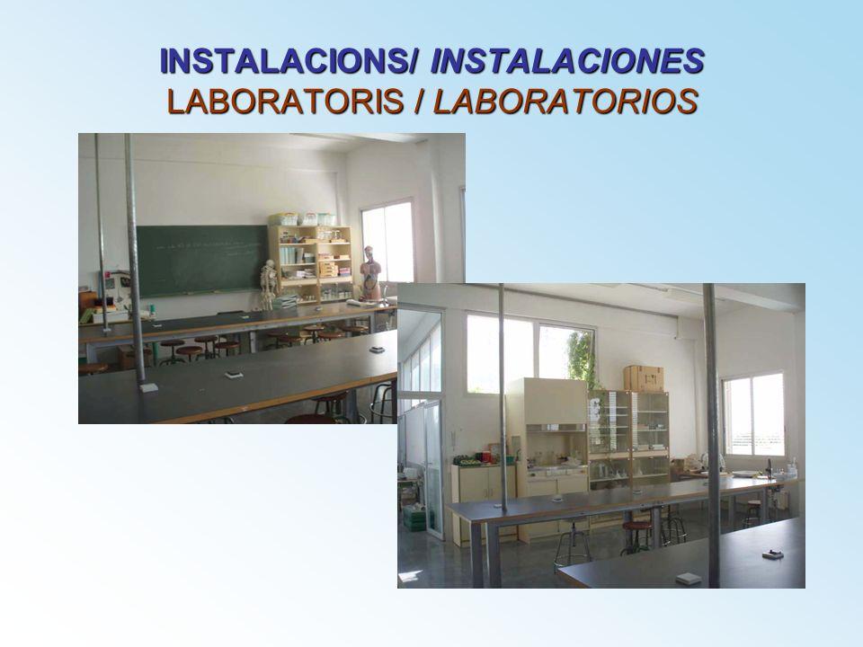INSTALACIONS/ INSTALACIONES LABORATORIS / LABORATORIOS