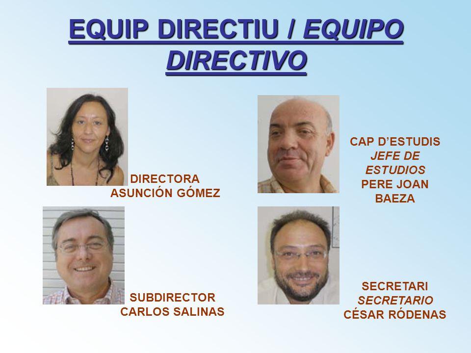 EQUIP DIRECTIU / EQUIPO DIRECTIVO