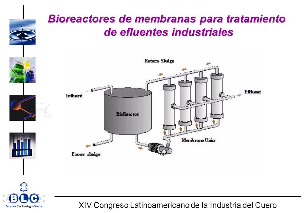 Bioreactores de membranas para tratamiento de efluentes industriales