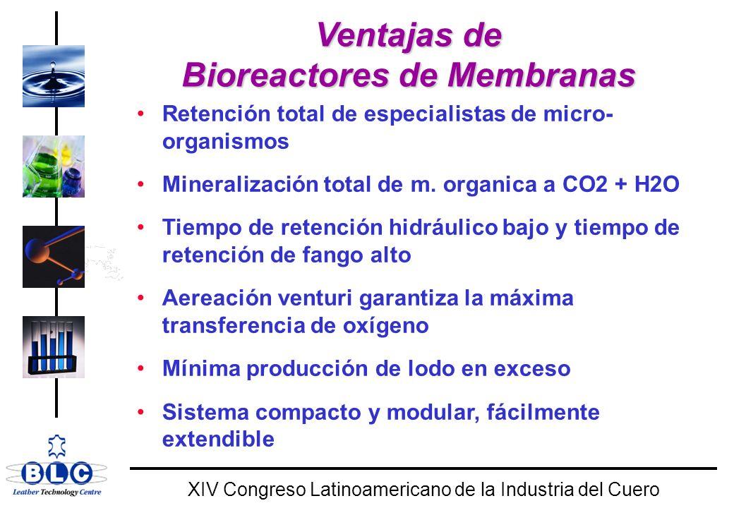 Ventajas de Bioreactores de Membranas