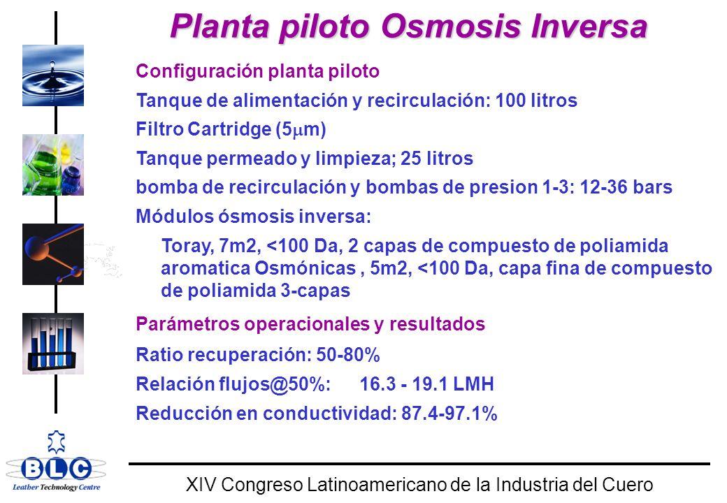 Planta piloto Osmosis Inversa