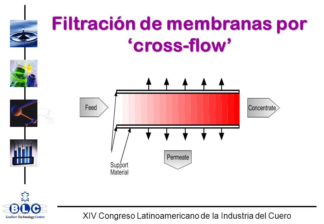 Filtración de membranas por 'cross-flow'
