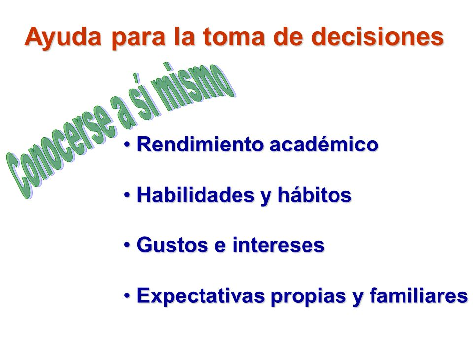 Ayuda para la toma de decisiones