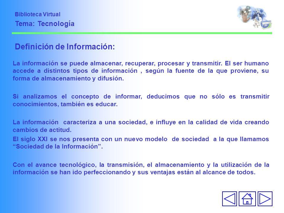Definición de Información: