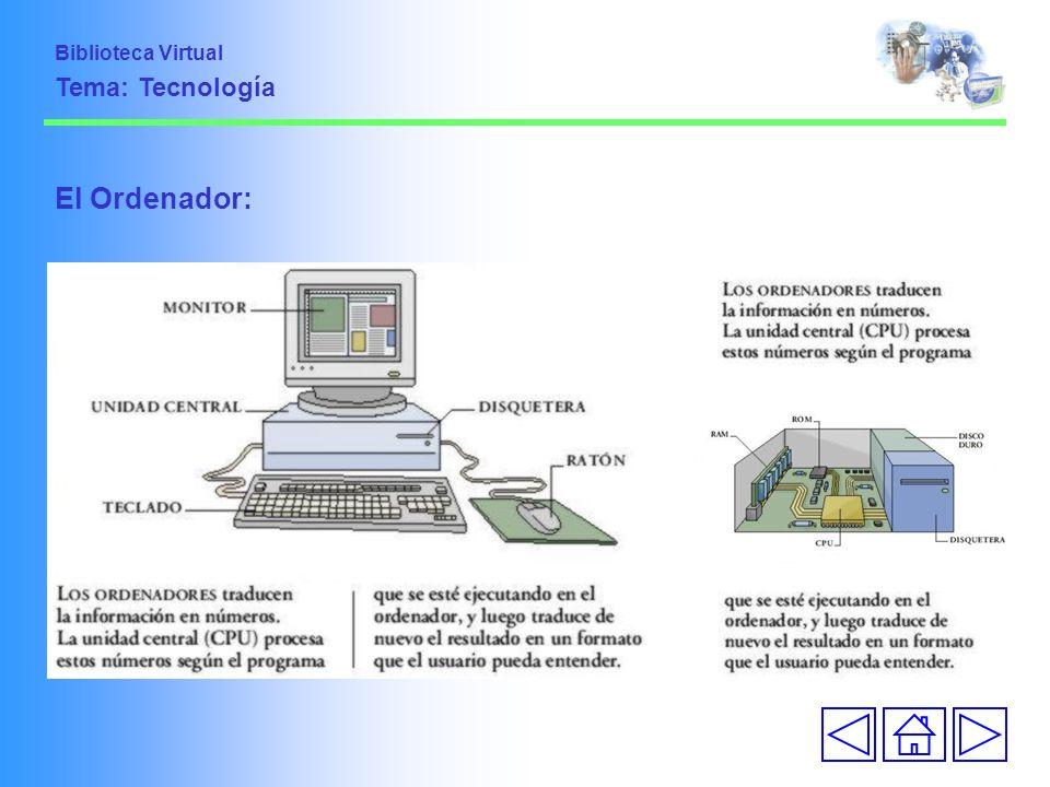 Biblioteca Virtual Tema: Tecnología El Ordenador: