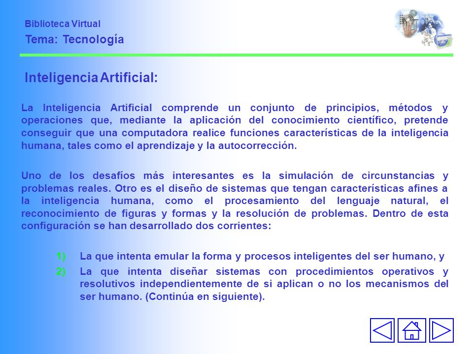 Inteligencia Artificial: