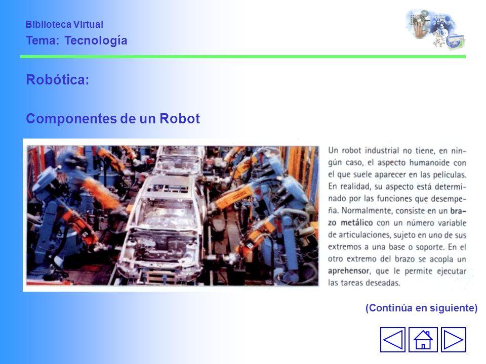 Componentes de un Robot