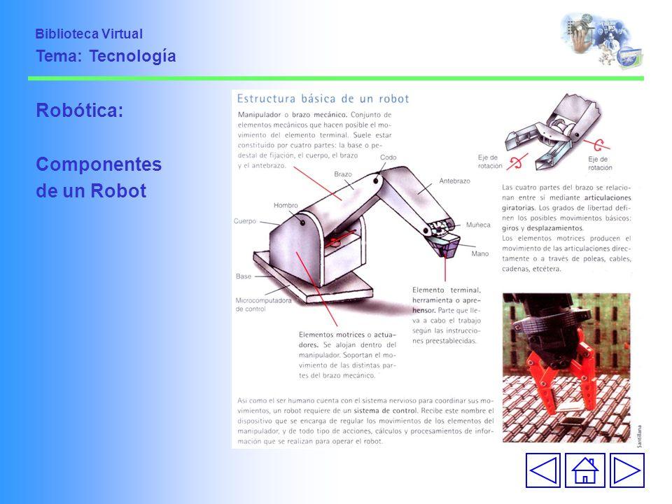 Biblioteca Virtual Tema: Tecnología Robótica: Componentes de un Robot
