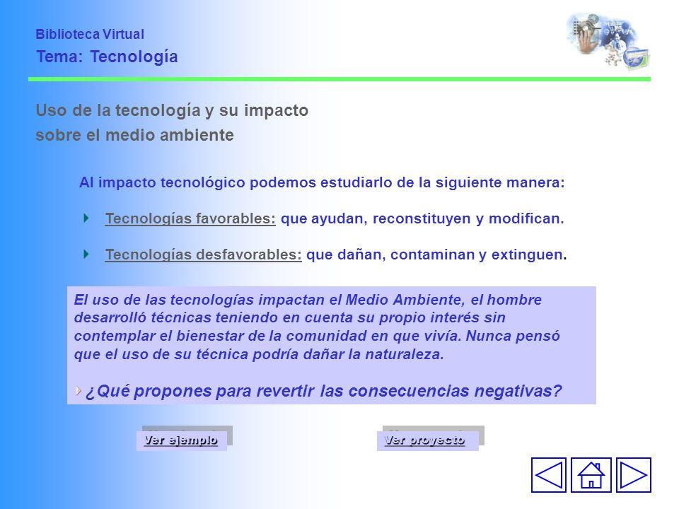 Uso de la tecnología y su impacto sobre el medio ambiente