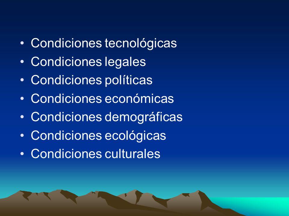 Condiciones tecnológicas