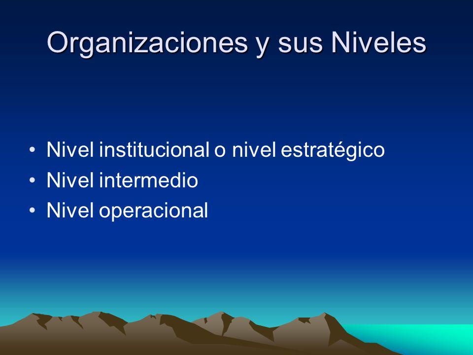 Organizaciones y sus Niveles