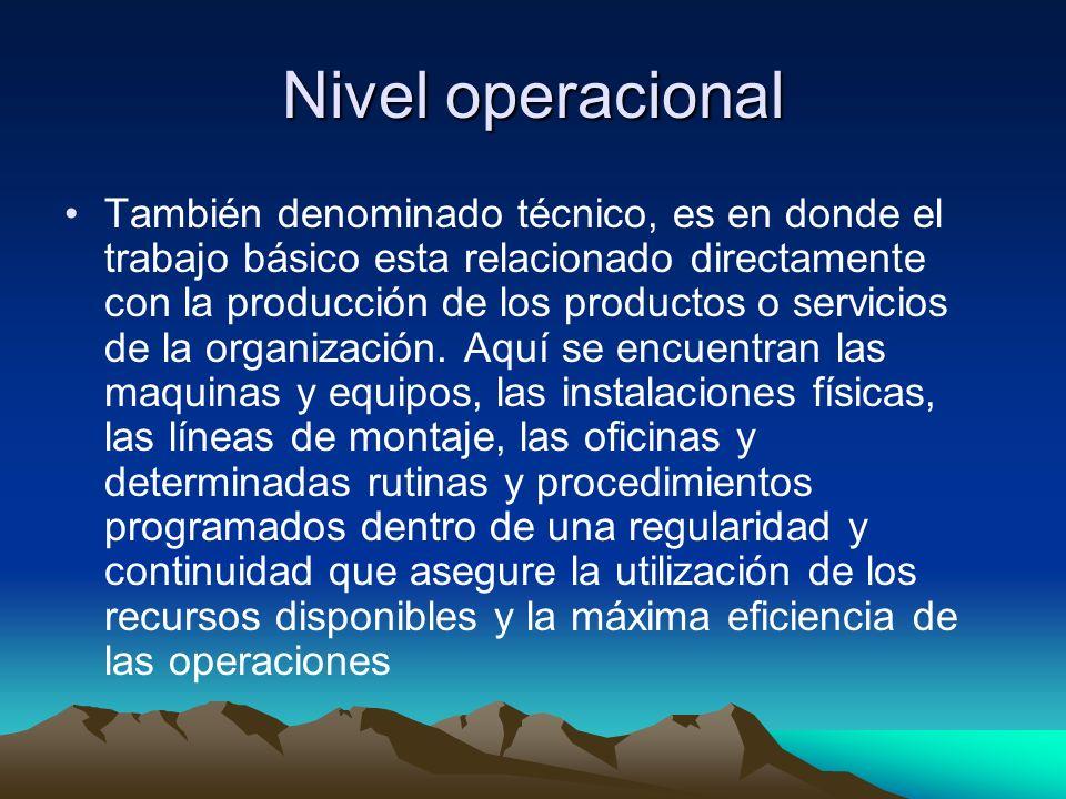 Nivel operacional