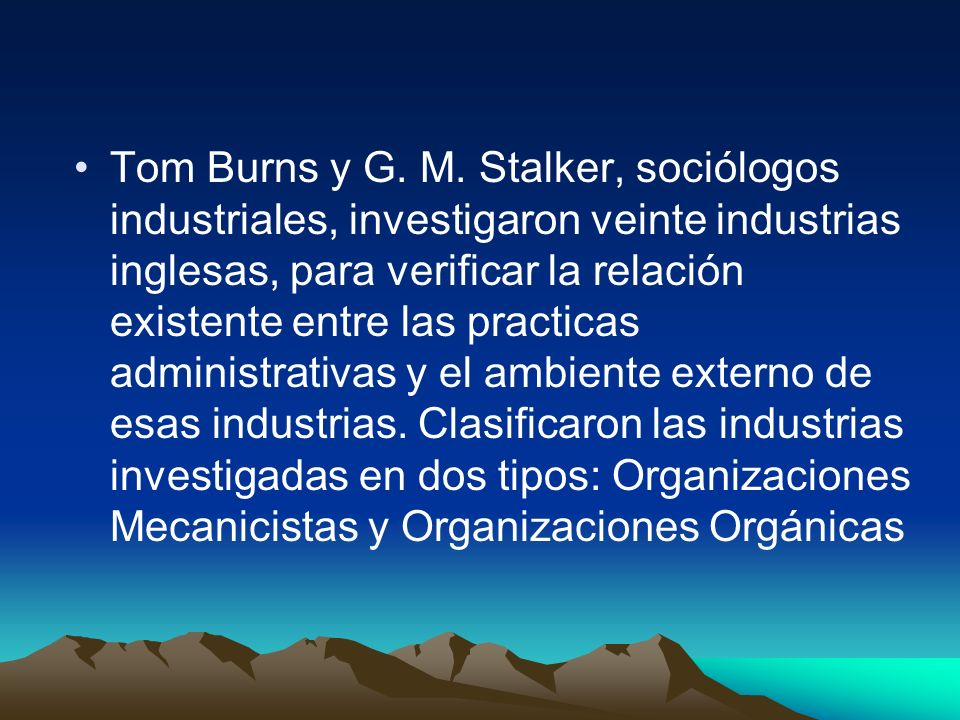 Tom Burns y G. M.