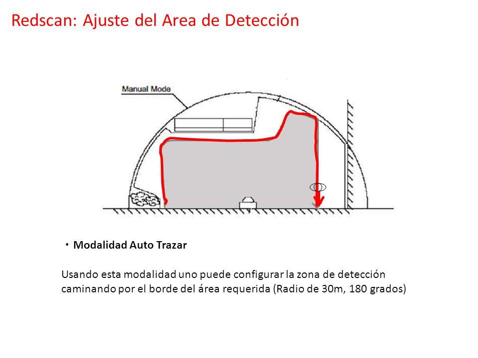 Redscan: Ajuste del Area de Detección