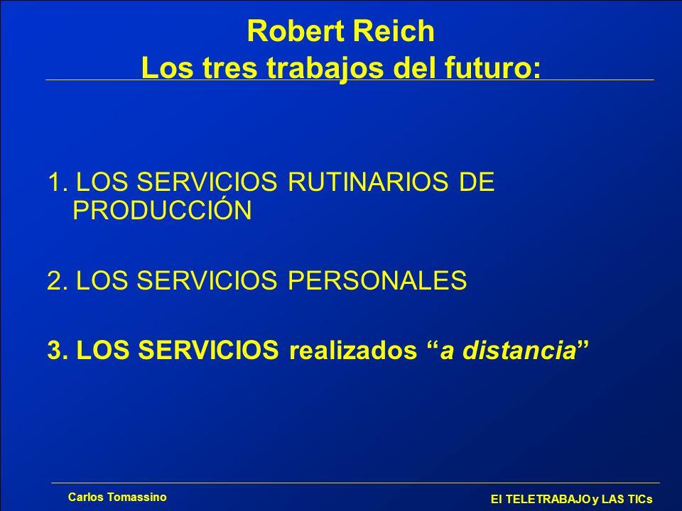 Robert Reich Los tres trabajos del futuro: