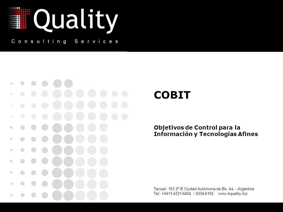 COBIT Objetivos de Control para la Información y Tecnologías Afines