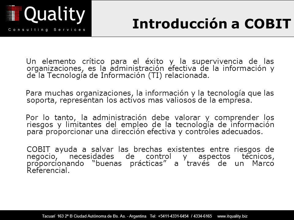Introducción a COBIT