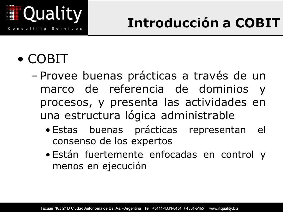 Introducción a COBIT COBIT