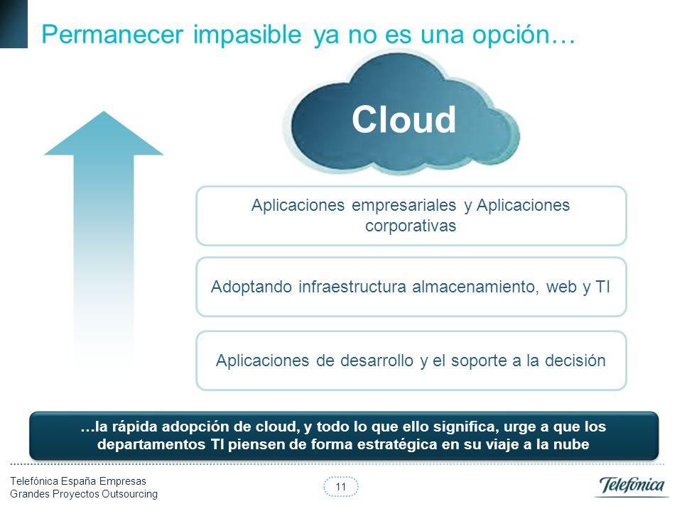 Cloud Permanecer impasible ya no es una opción…
