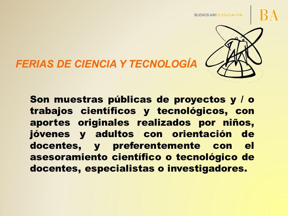 FERIAS DE CIENCIA Y TECNOLOGÍA