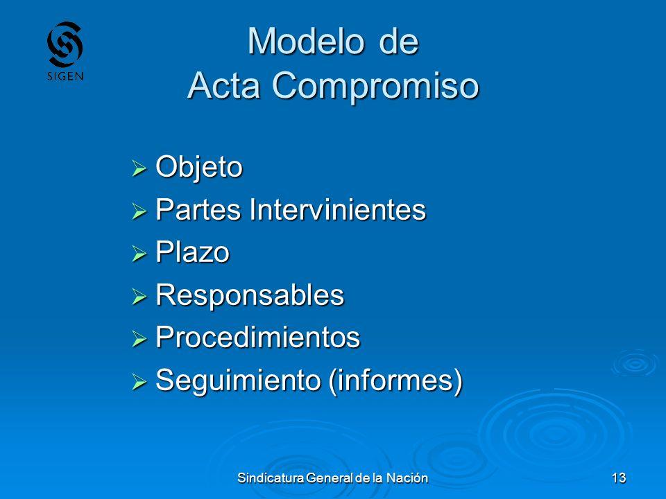 Modelo de Acta Compromiso