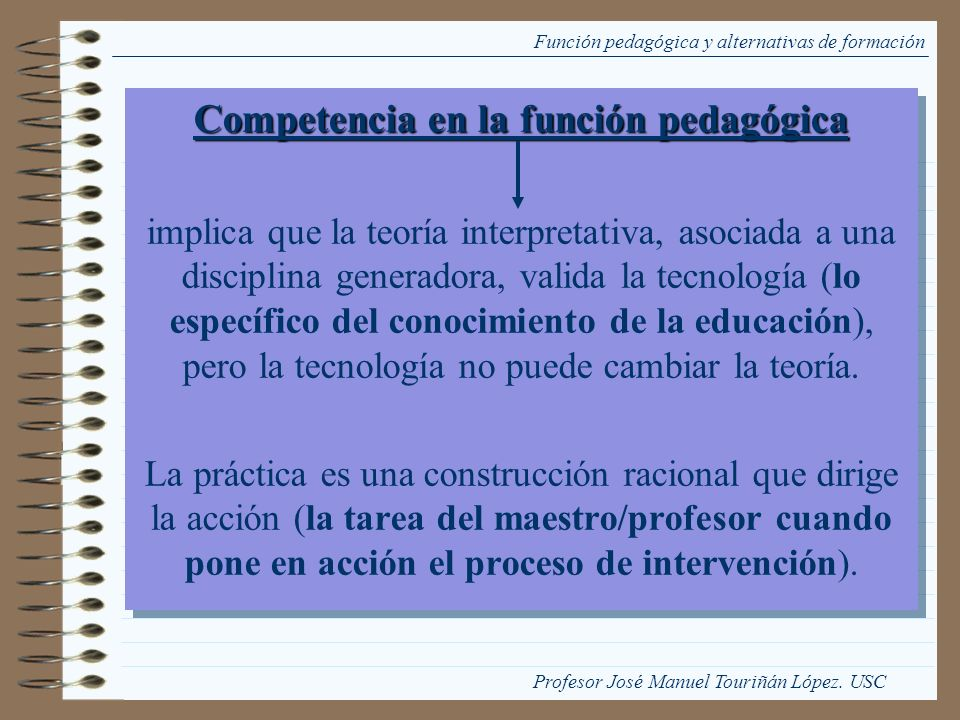 Competencia en la función pedagógica