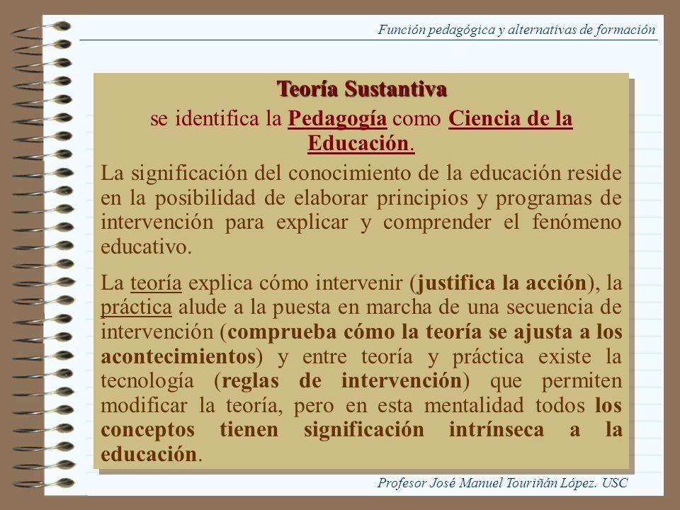 se identifica la Pedagogía como Ciencia de la Educación.