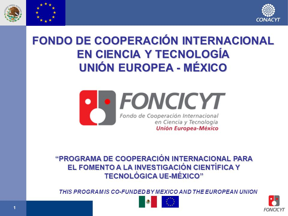 THIS PROGRAM IS CO-FUNDED BY MEXICO AND THE EUROPEAN UNION