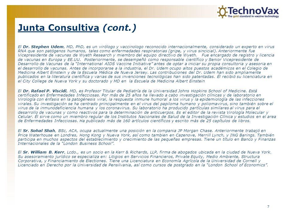 Junta Consultiva (cont.)