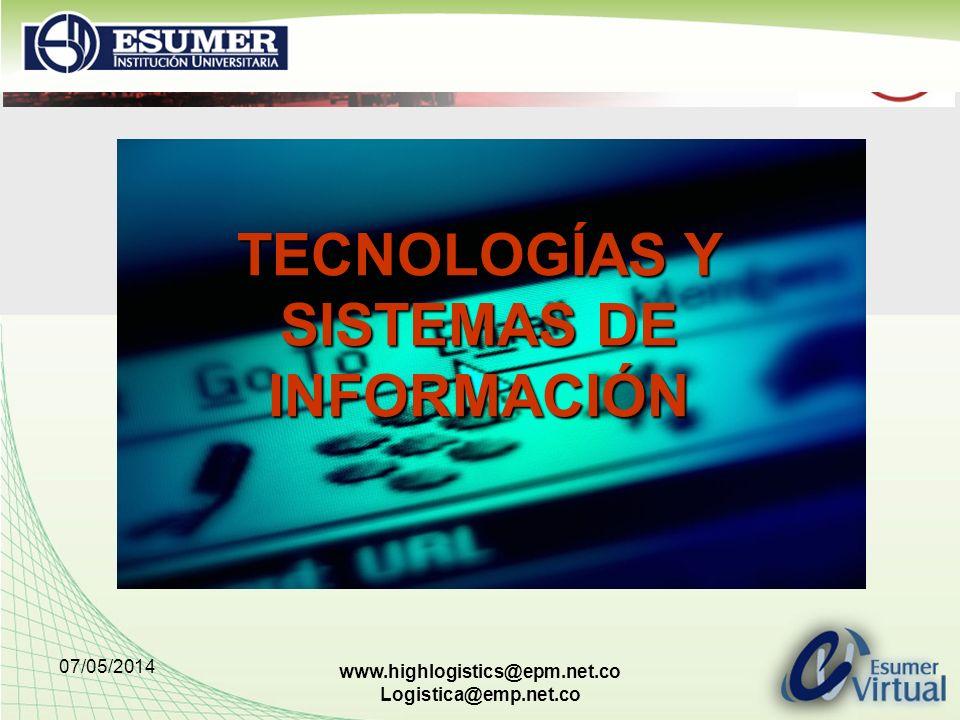 TECNOLOGÍAS Y SISTEMAS DE INFORMACIÓN