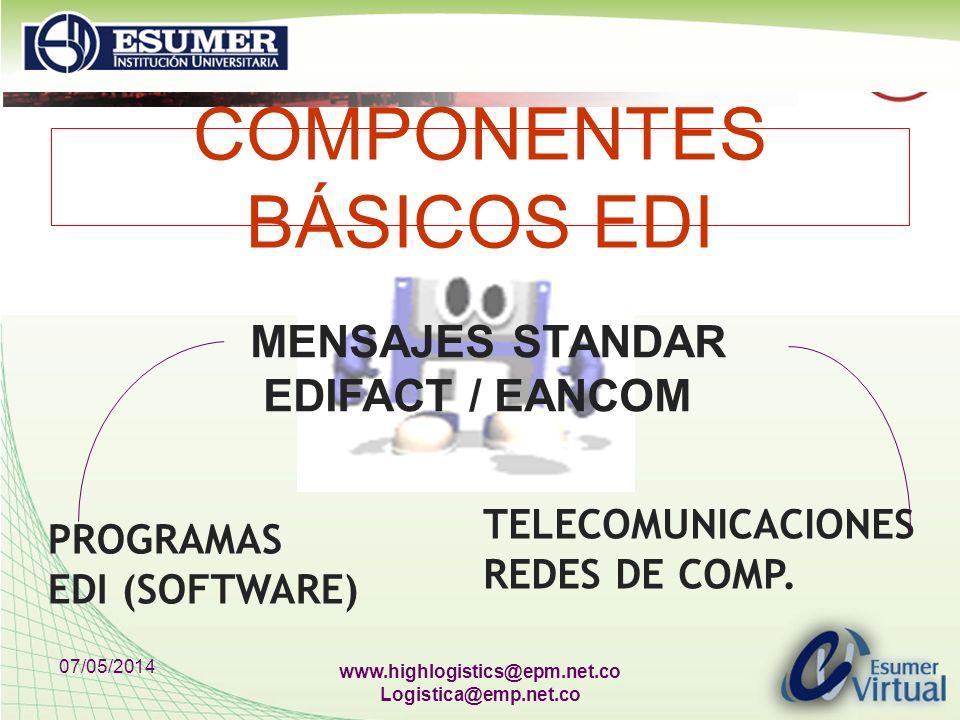 COMPONENTES BÁSICOS EDI