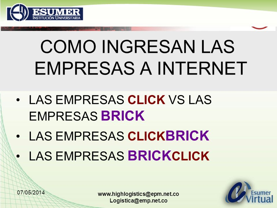 COMO INGRESAN LAS EMPRESAS A INTERNET