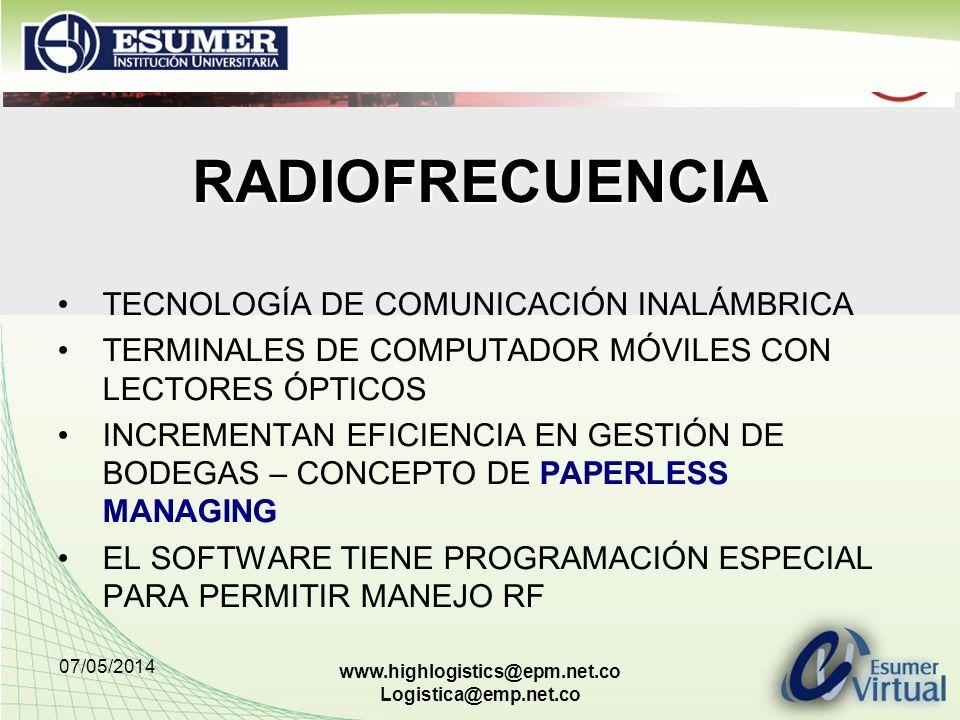 RADIOFRECUENCIA TECNOLOGÍA DE COMUNICACIÓN INALÁMBRICA