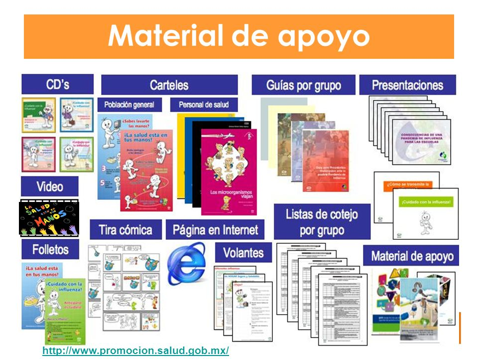 Material de apoyo http://www.promocion.salud.gob.mx/