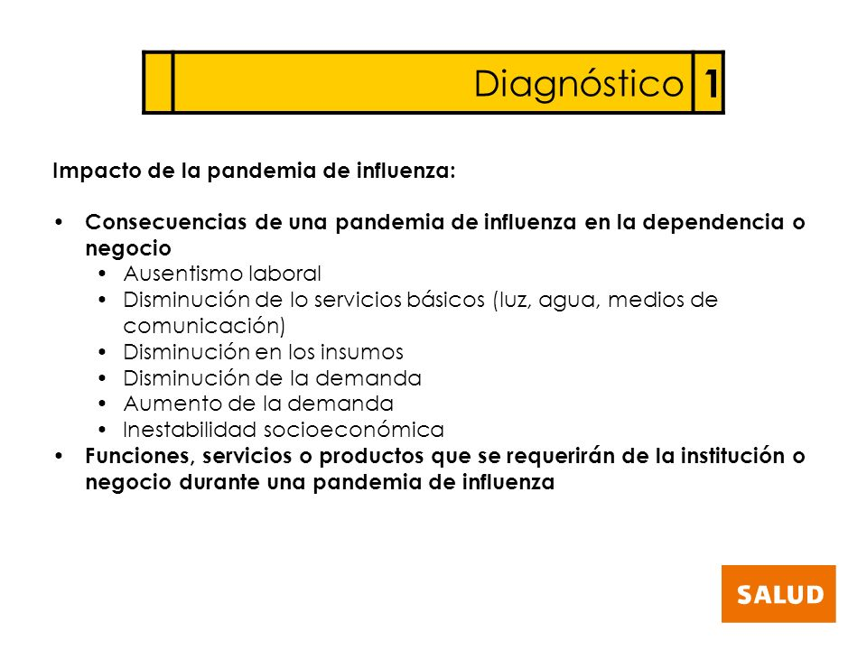 1 Diagnóstico Impacto de la pandemia de influenza: