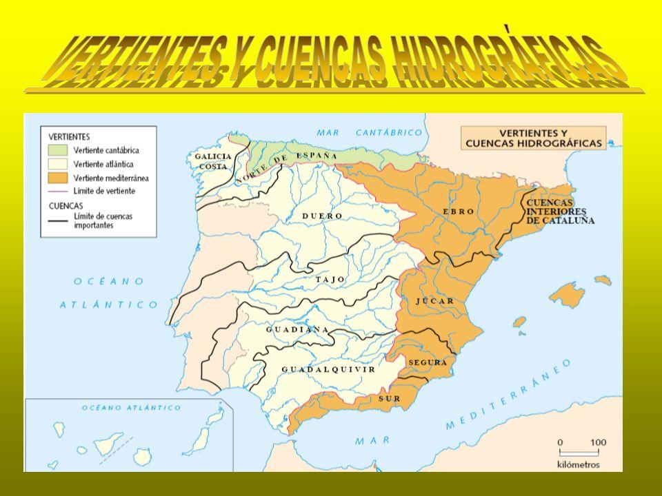 VERTIENTES Y CUENCAS HIDROGRÁFICAS