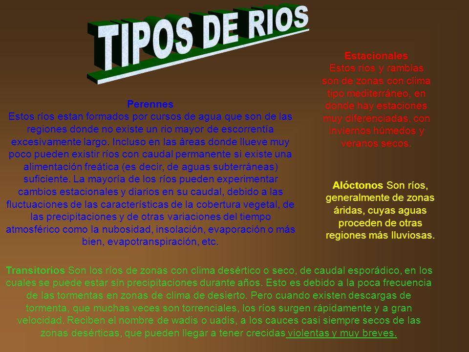 TIPOS DE RIOS Estacionales