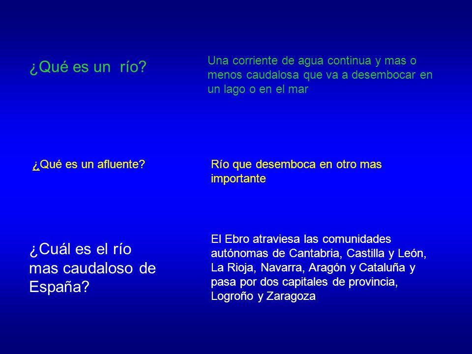 ¿Cuál es el río mas caudaloso de España