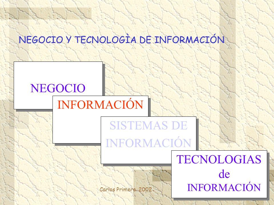 NEGOCIO Y TECNOLOGÌA DE INFORMACIÓN