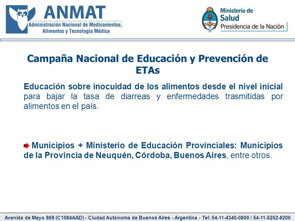 Campaña Nacional de Educación y Prevención de ETAs